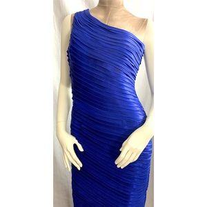 Calvin Klein Blue One-Shoulder Sheath Gown 6